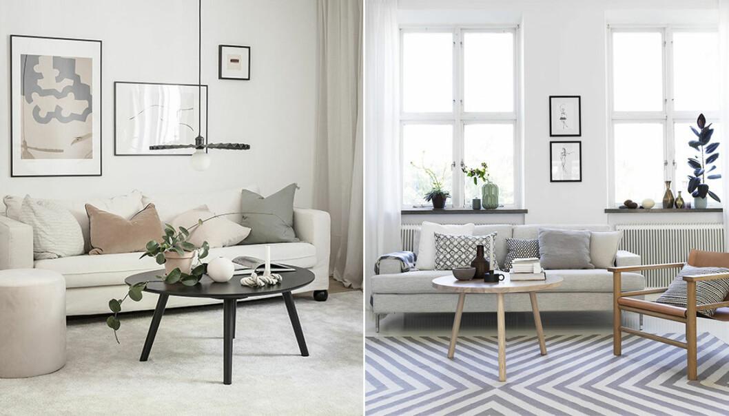 så väljer du rätt soffbord till ditt vardagsrum