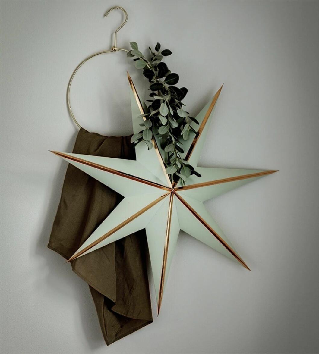 Mintgrön julstjärna från Watt & Veke