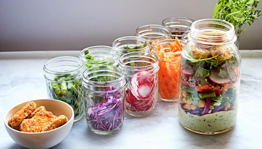 Salad in a jar, eller sallad i en burk.