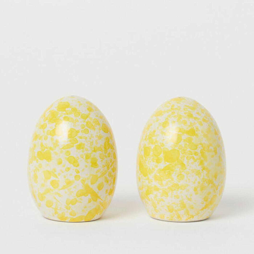 Äggformade sal- och pepparkar
