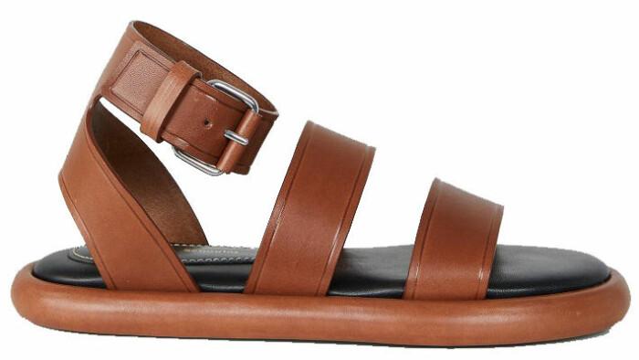 brun sandal med breda remmar från Proenza Schouler