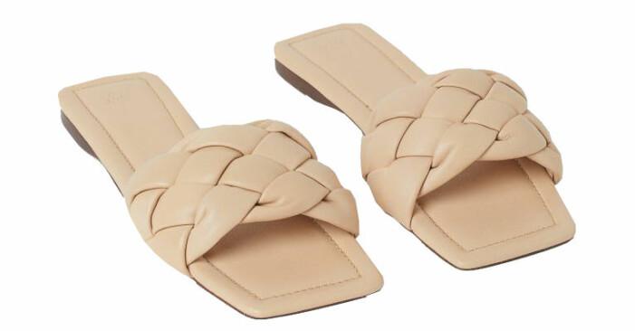 sandaler med fyrkantig tå