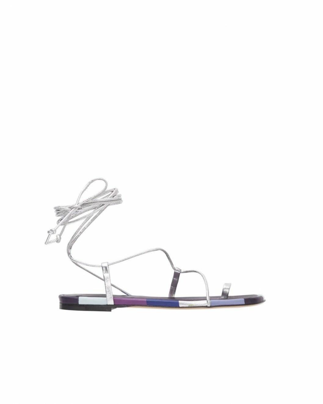 lila sandaler från Isabel Marant.