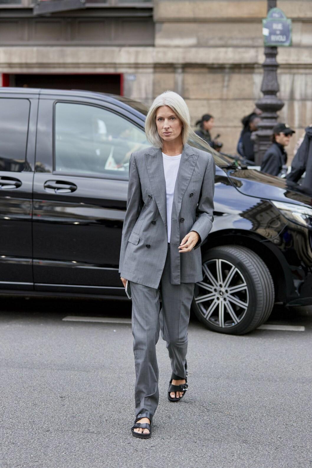 streetstyle från Paris modevecka.