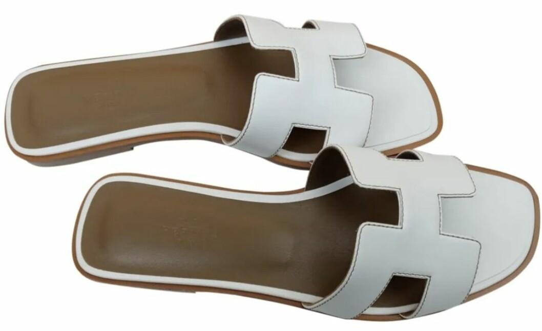 Sandalerna Oran från Hermès i vitt