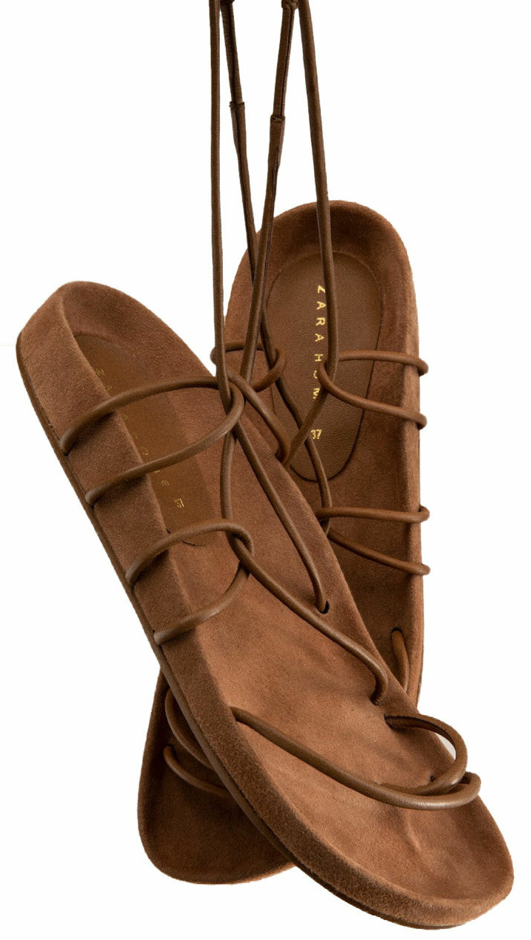 bruna sandaler från Zara home.