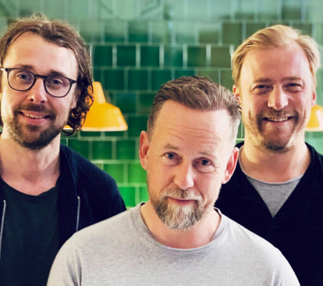 Fredrik Sundberg, Mattias Svensson och Erik Johansson – männen bakom Sandhäxan.