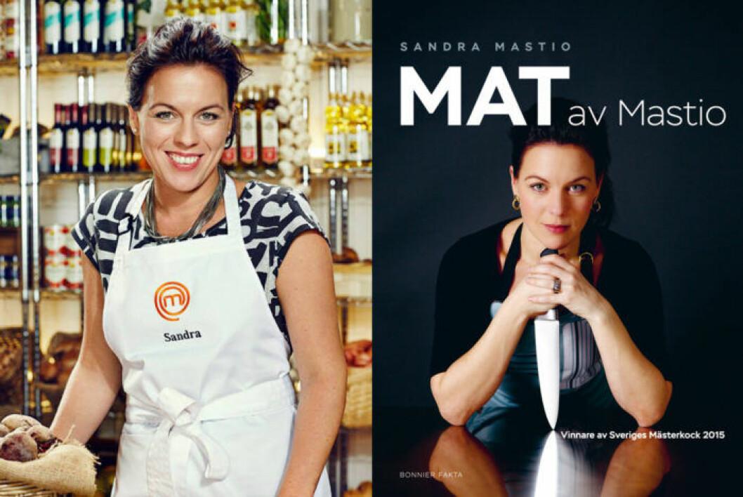 """Sandra Mastio har gett ut kokboken """"Mat av Mastio""""."""