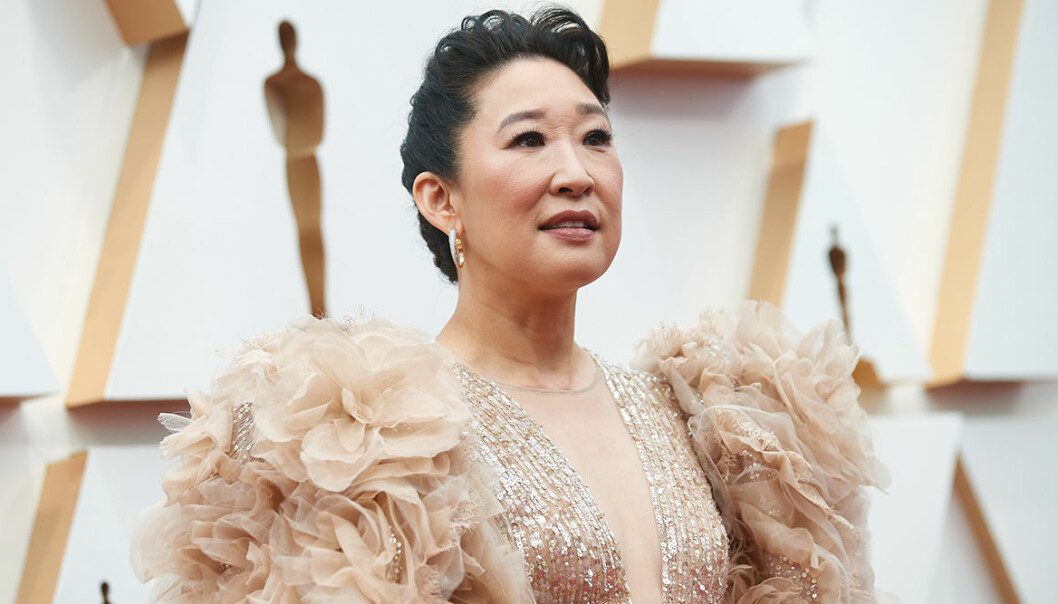 Sandra Oh tar ton under Stop Asian Hate-demonstrationen!