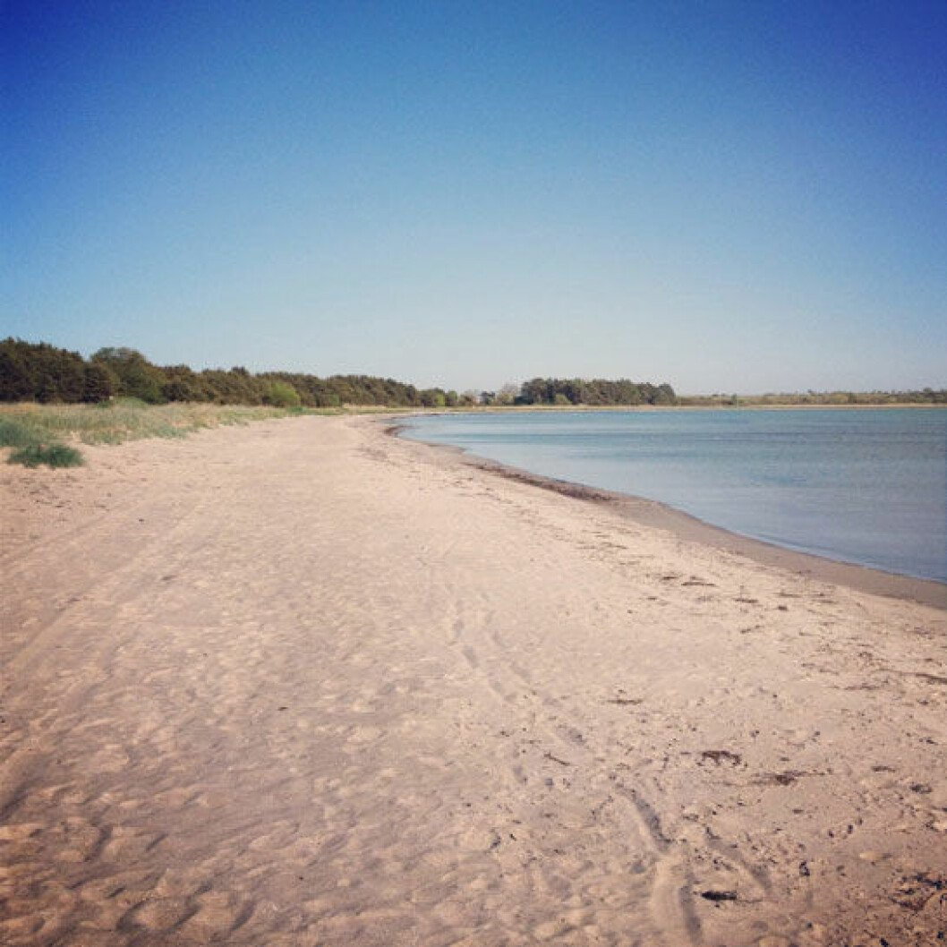 Stranden Sandviken på Gotland.
