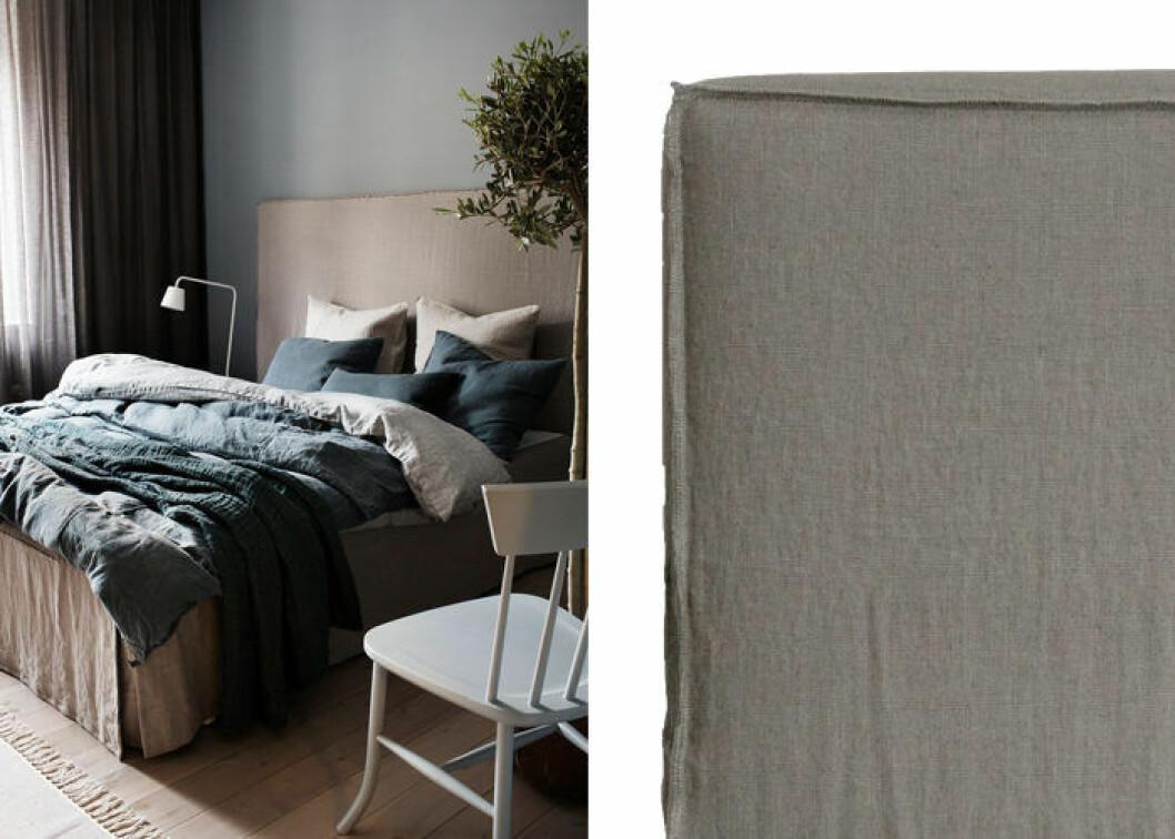 sänggavel i linne från Himla