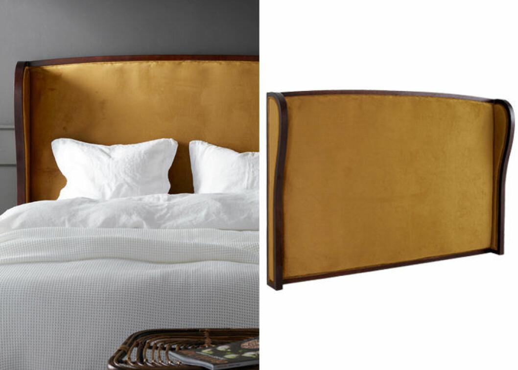 Gul sänggavel i sammet
