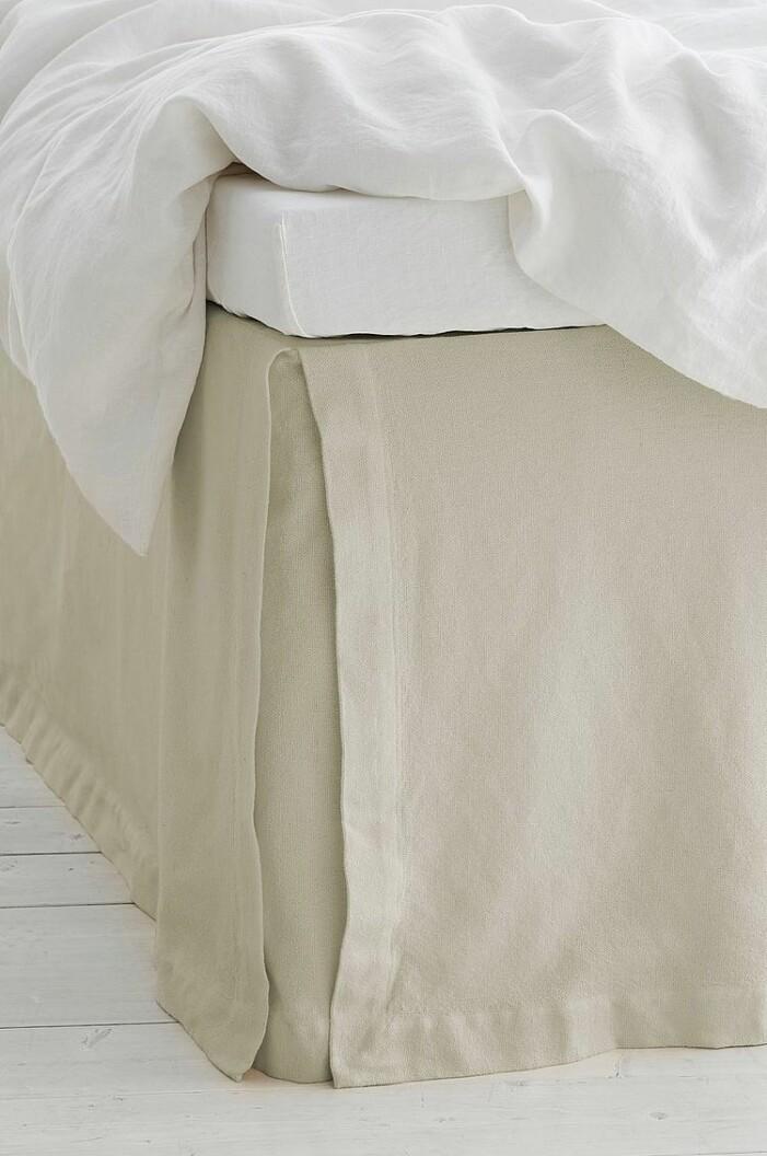 beige sängkappa