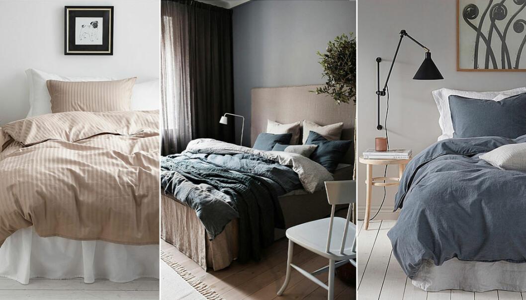 Sängkläder i olika tyger