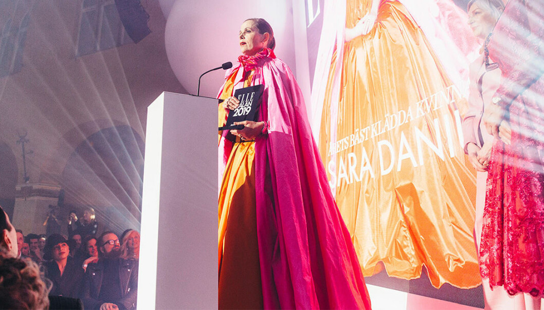 Sara Danius på Elle-galan 2019