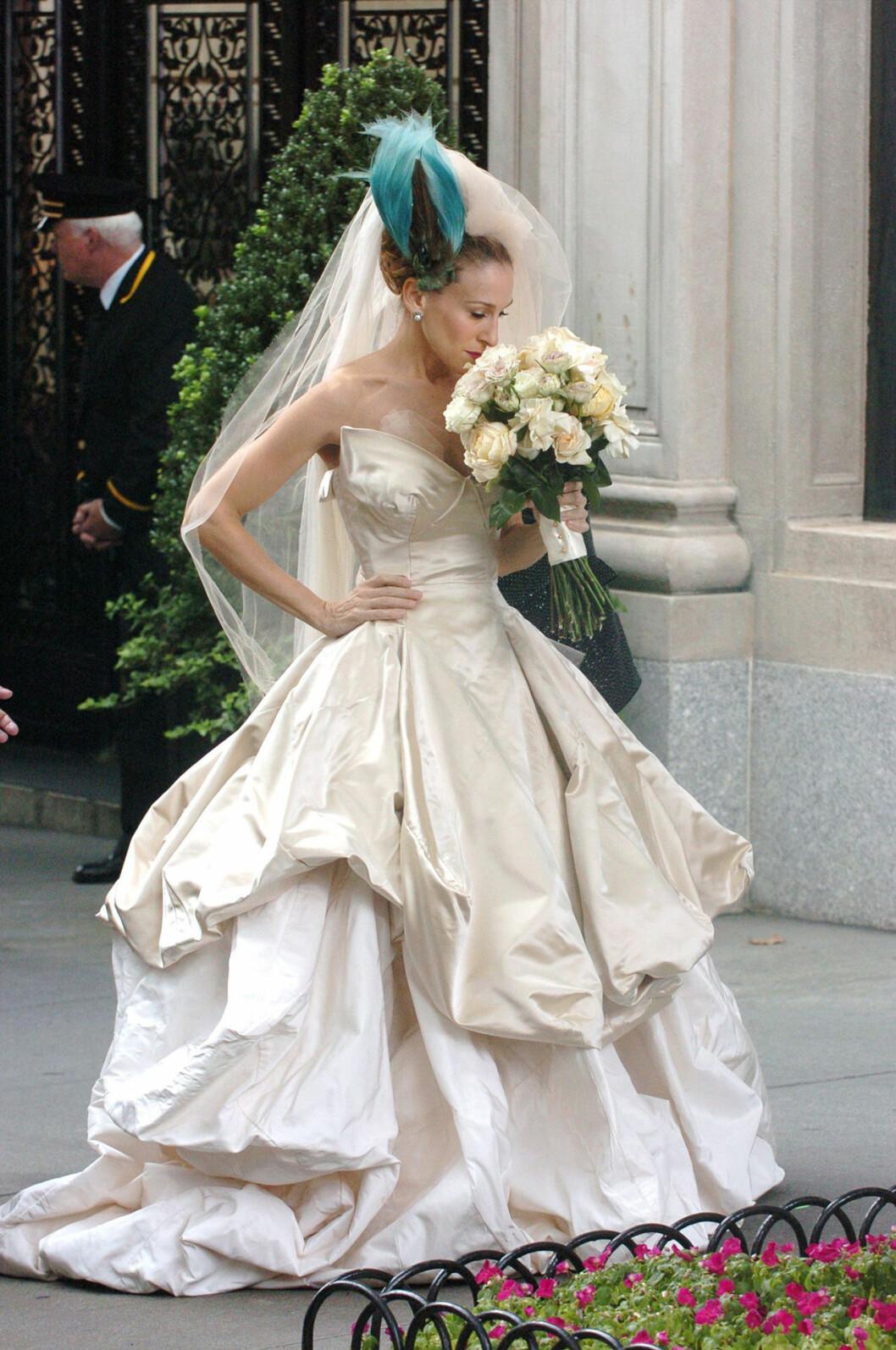 Carrie i brudklänning
