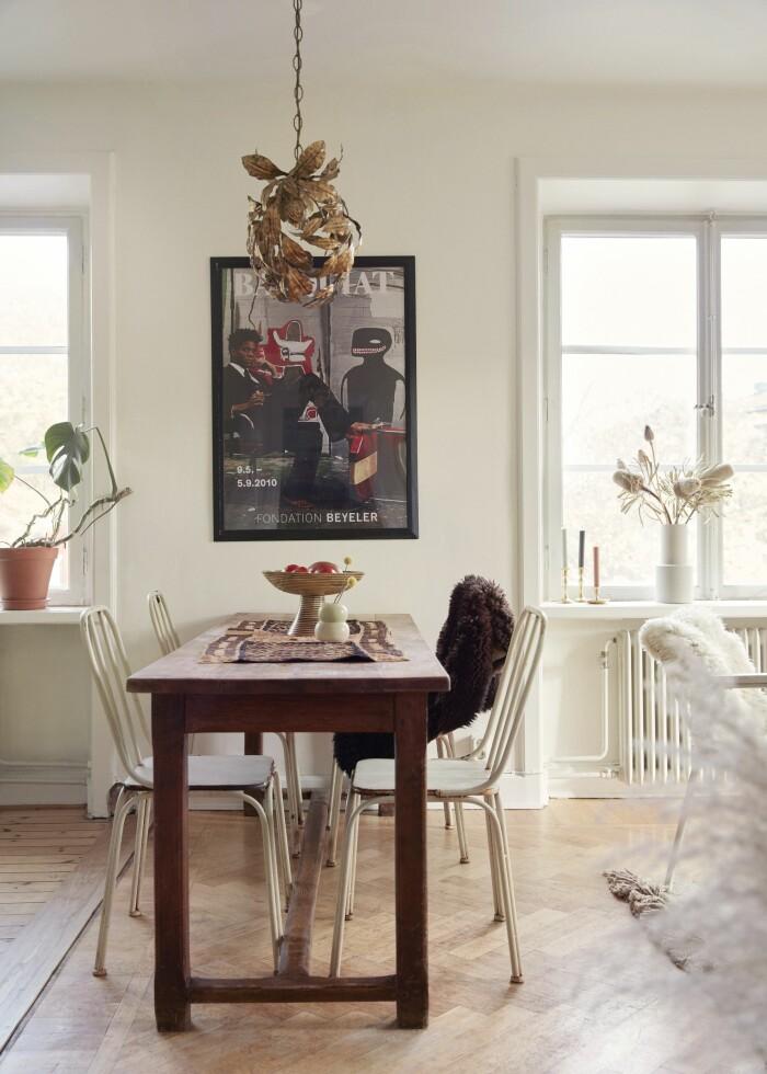Sarah Memel Törnebäck hemma hos Stockholm vardagsrum matplats kök