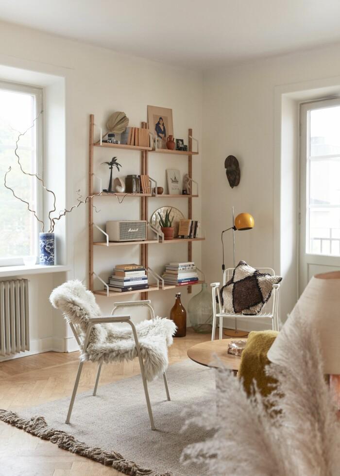 Sarah Memel Törnebäck hemma hos Stockholm vardagsrum