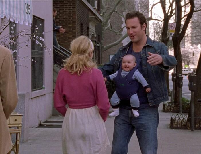 carrie träffar aidan med bebis på magen