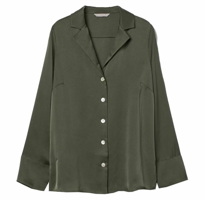 grön satinskjorta