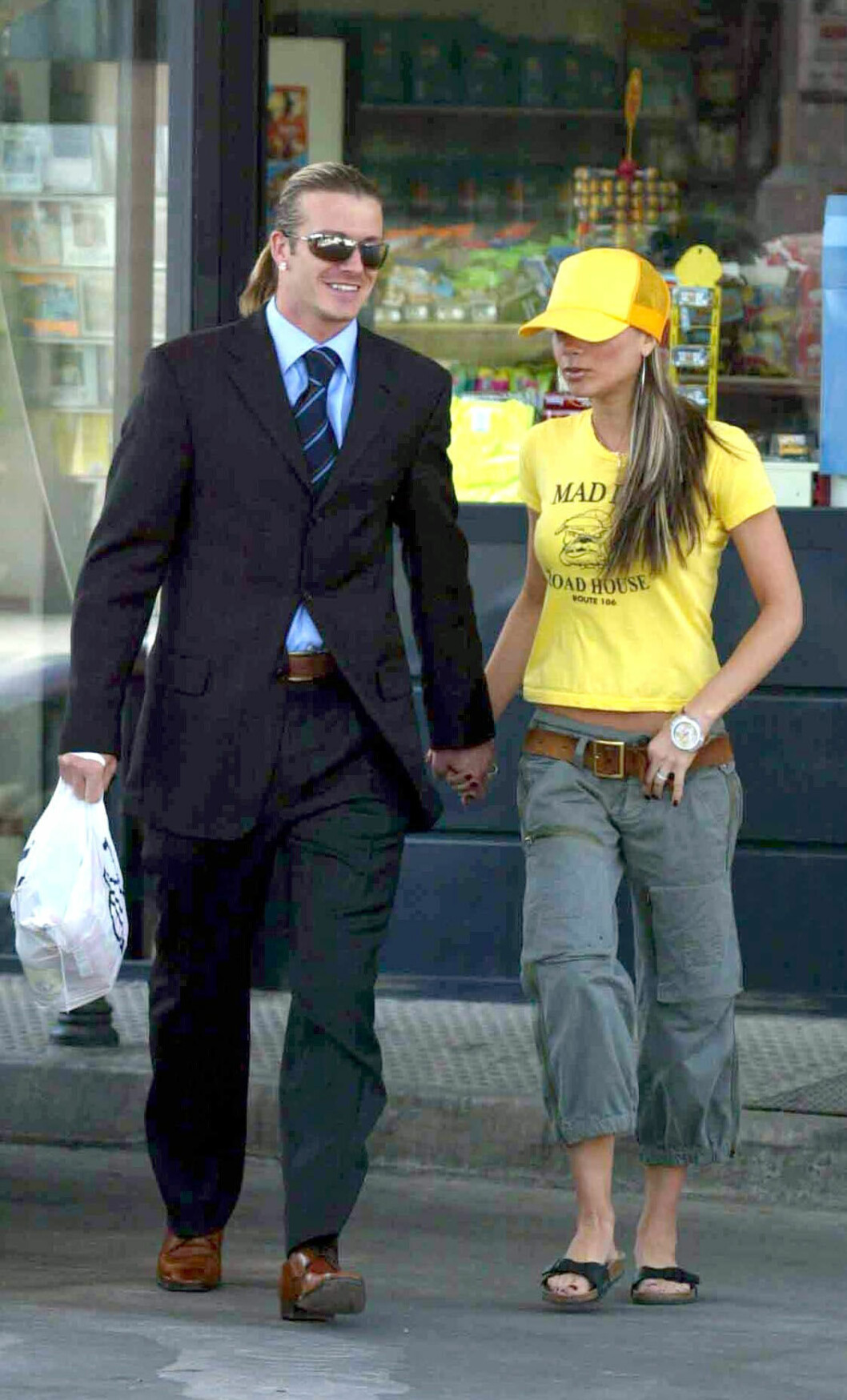 Victoria Beckham & David Beckhams stil, madrid, 2004