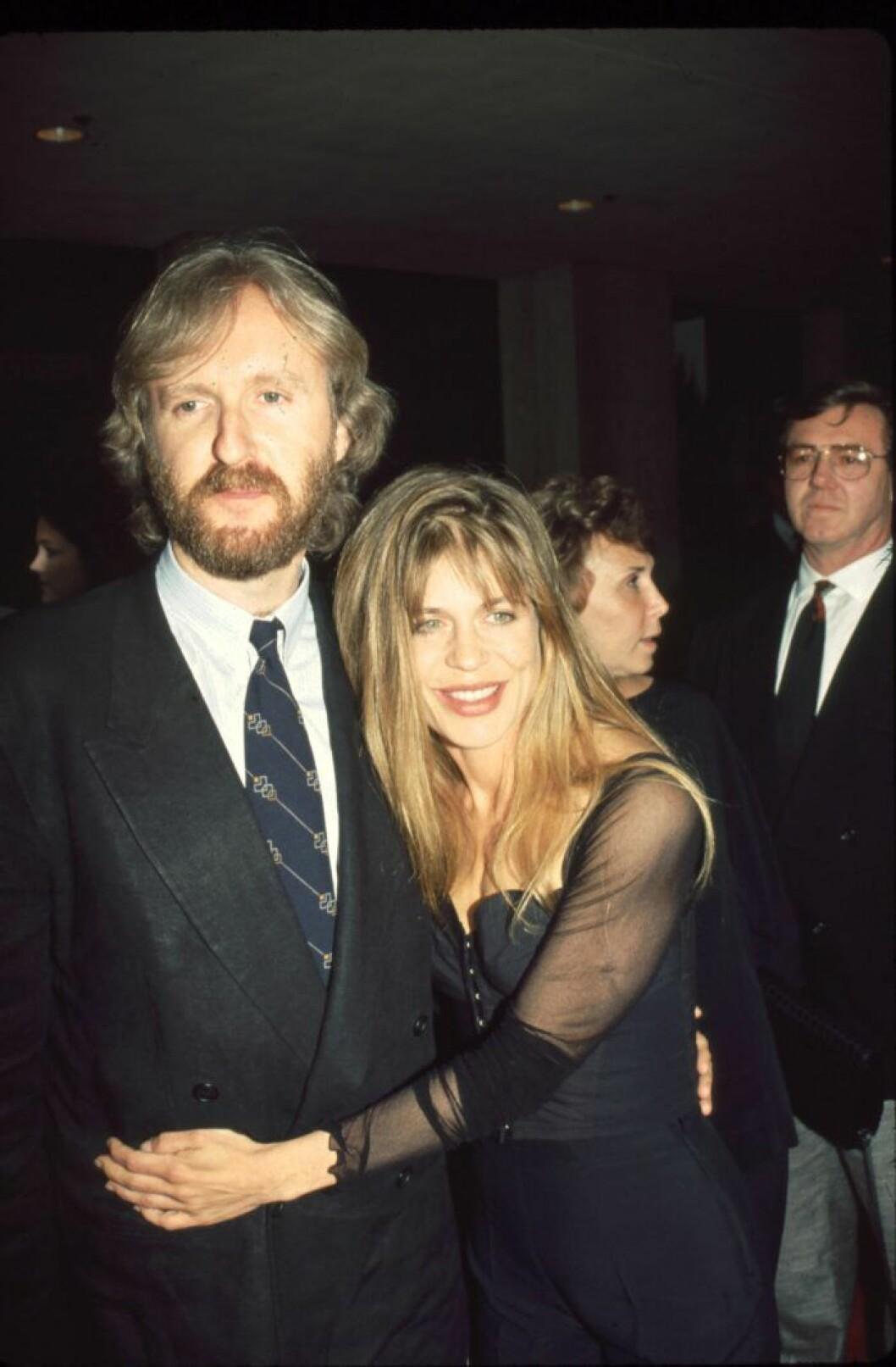 James Cameron och Linda Hamilton.