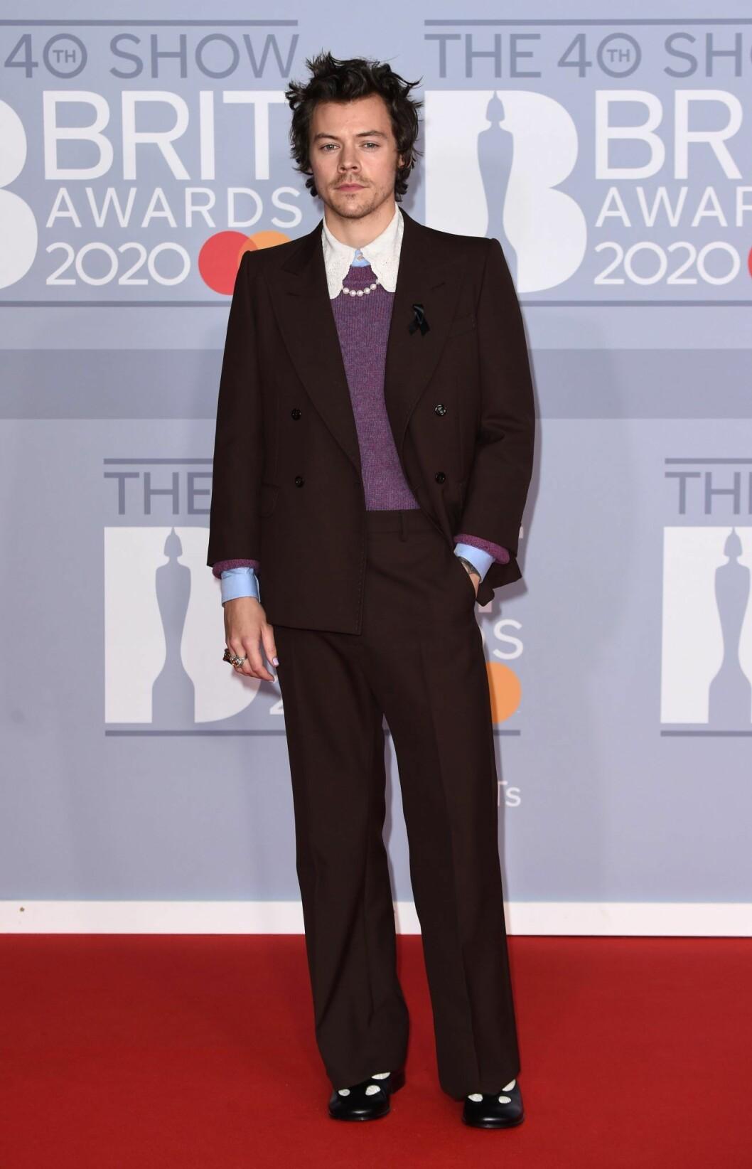 Harry Styles på Brit Awards 2020.
