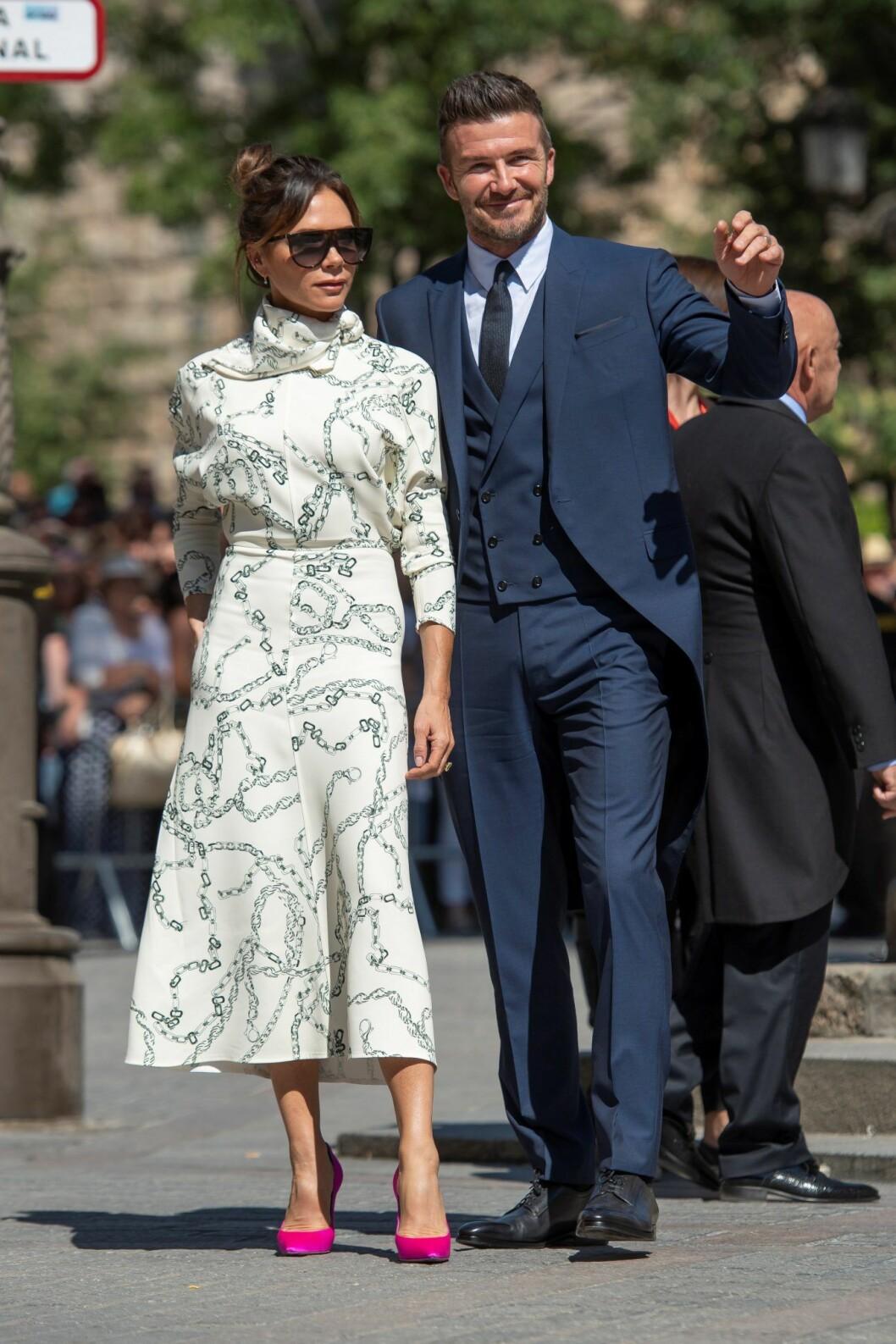 Victoria Beckham & David Beckham bröllopsstil