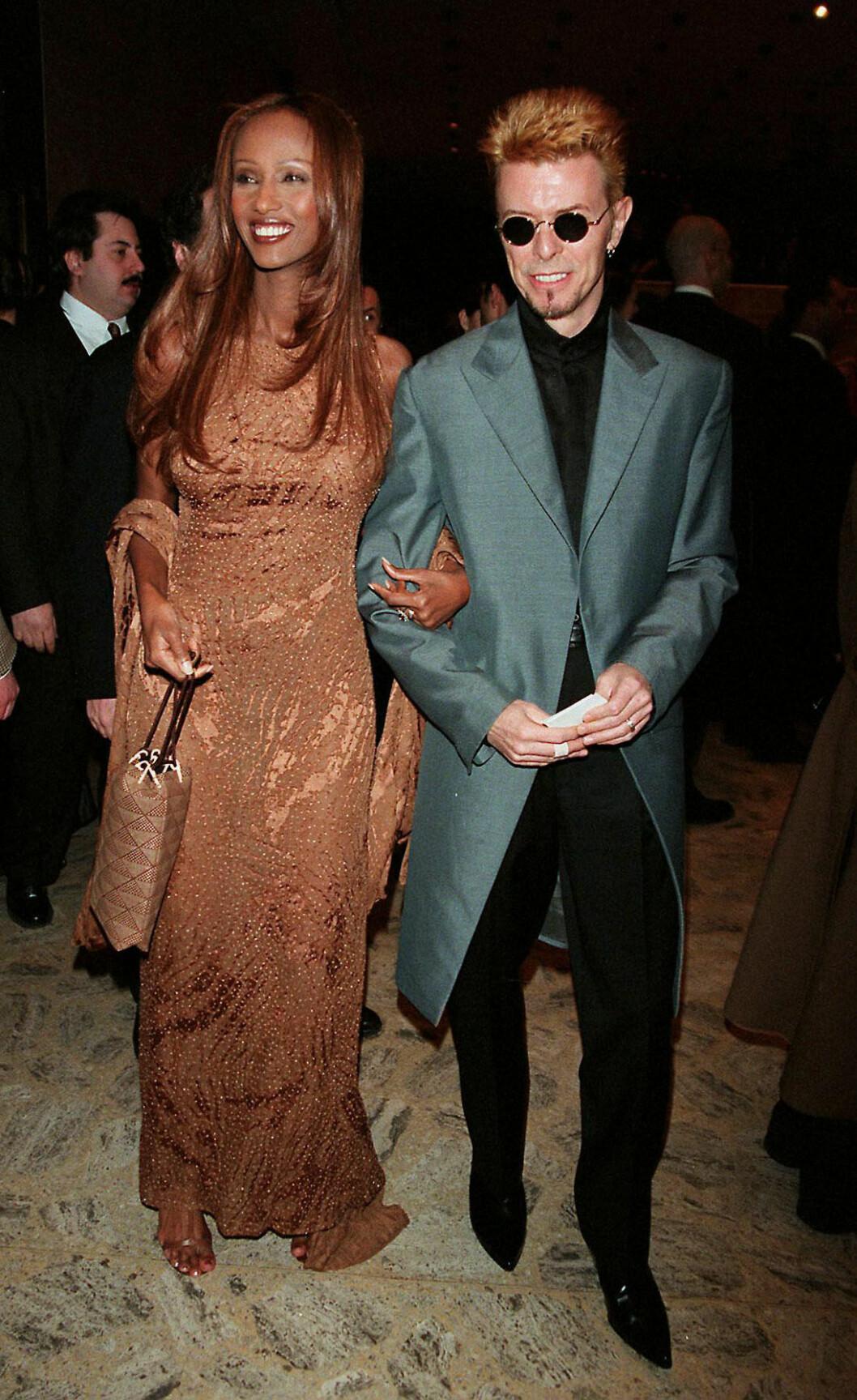 Paret David Bowie och Iman Abdulmajids oförglömliga 90-tals stil