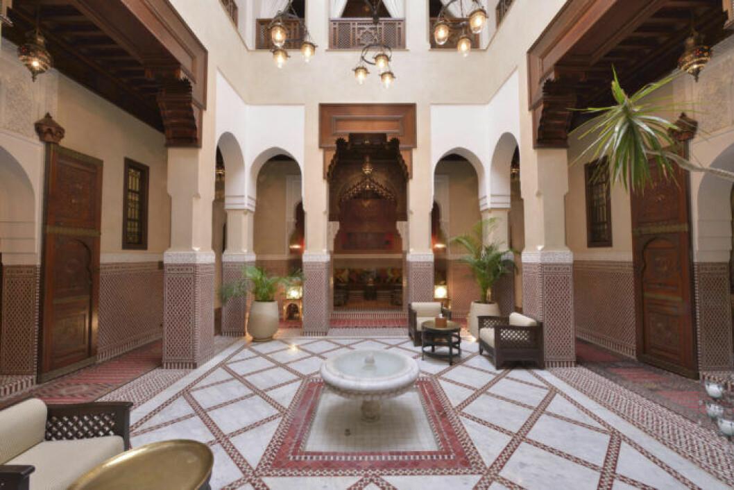 Lobby på Royal Mansour Hotel i Marrakech. Foto: TT Mandatory Credit: Photo by imageBROKER/REX (3475373a)<br /> Lobby of the Royal Mansour Hotel, Marrakech, Marrakesh-Tensift-El Haouz region, Morocco<br /> VARIOUS