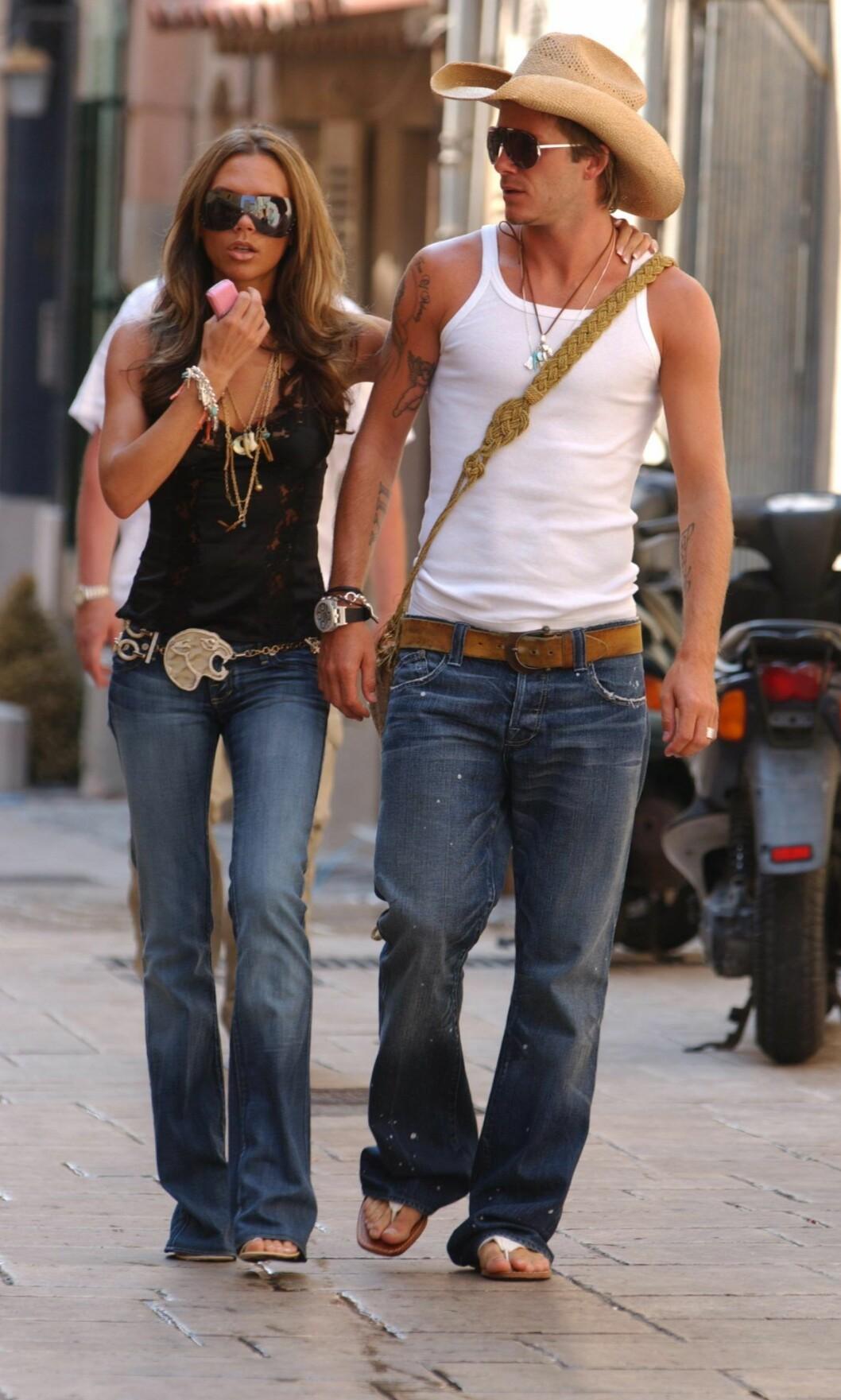 Victoria Beckham & David Beckhams St.Tropez-style 2005