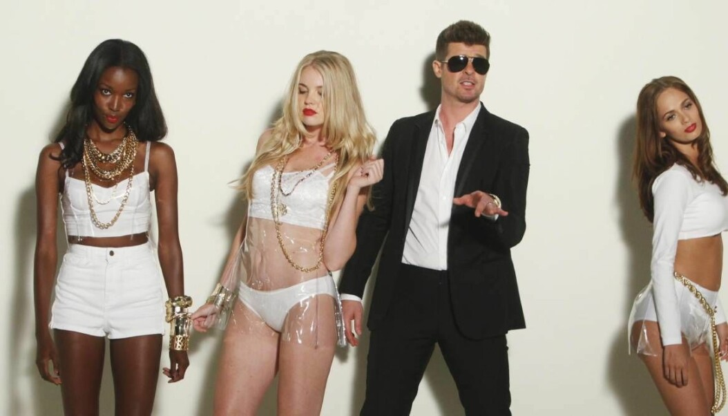 Robin Thicke Blurred lines.