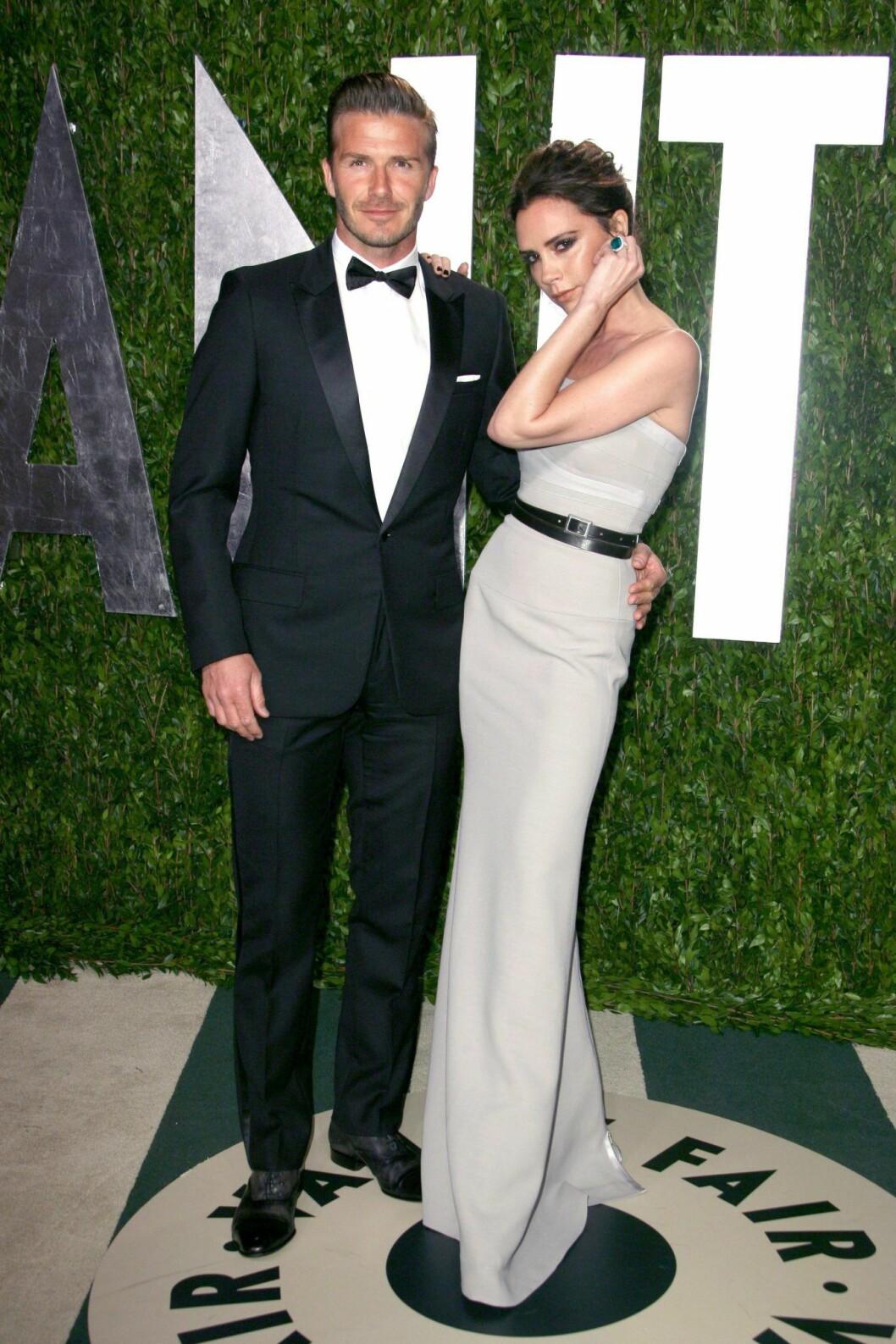Victoria Beckham & David Beckhams stilresa, 2012