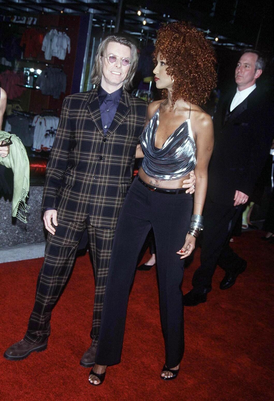 Paret David Bowie och Iman oförglömliga 90-tals stil