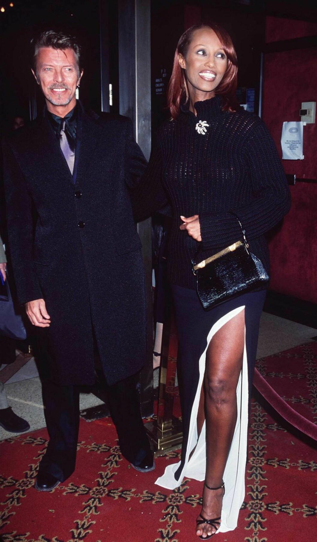 Paret David Bowie och Iman Abdulmajids 90-tals stil