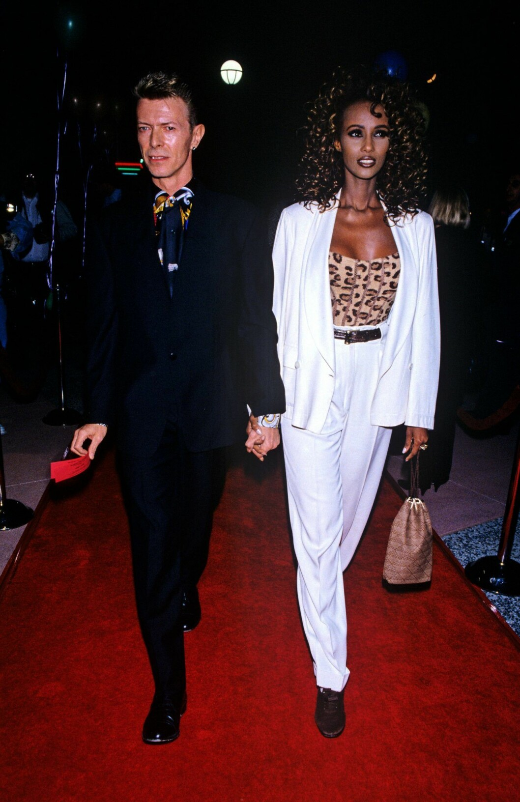 Bowie och Iman stil på 90-talet