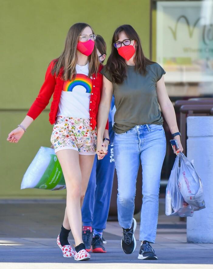 Jennifer Garner med dottern Violet Affleck.