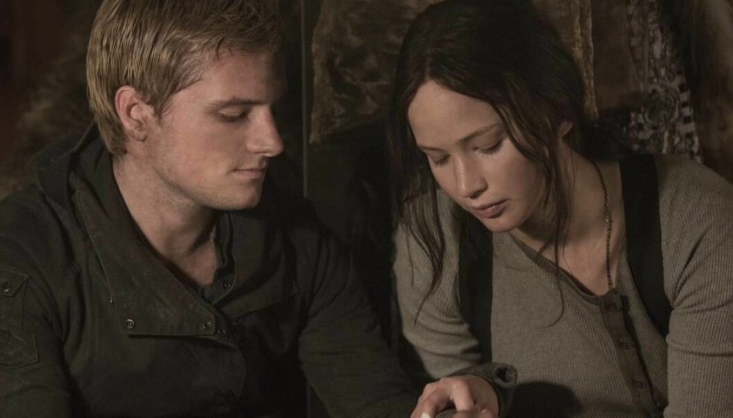 Peeta och Katniss i The Hunger Games