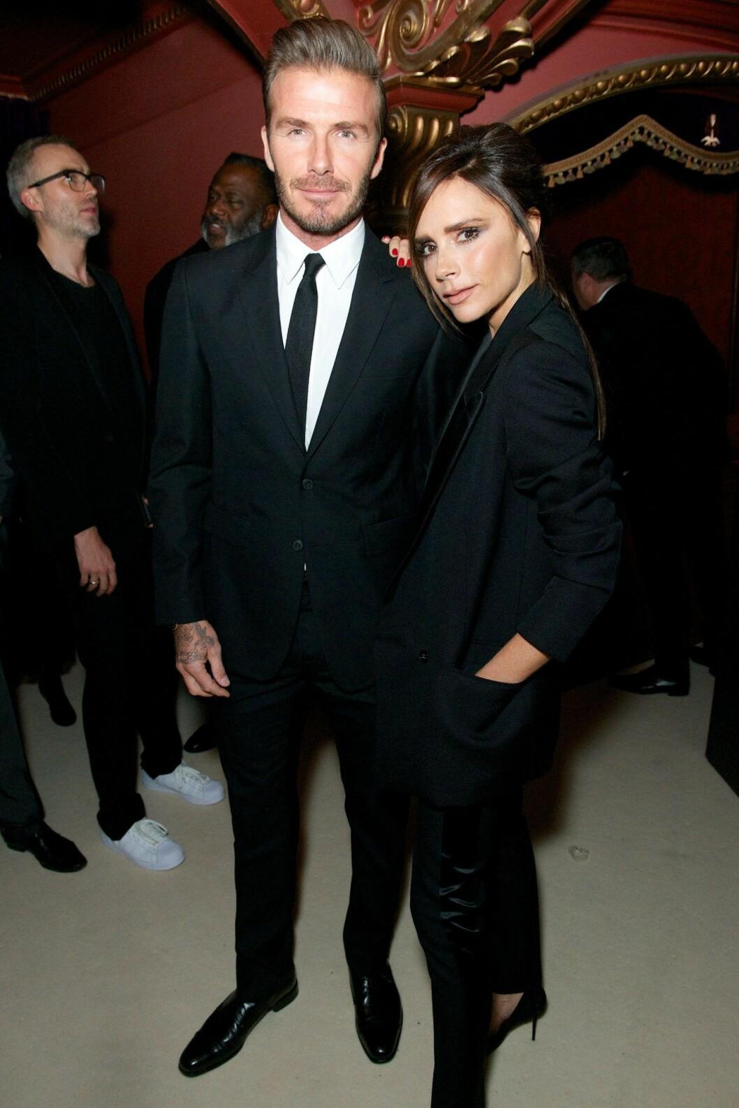 Victoria Beckham & David Beckhams på The British Fashion Awards, 2015