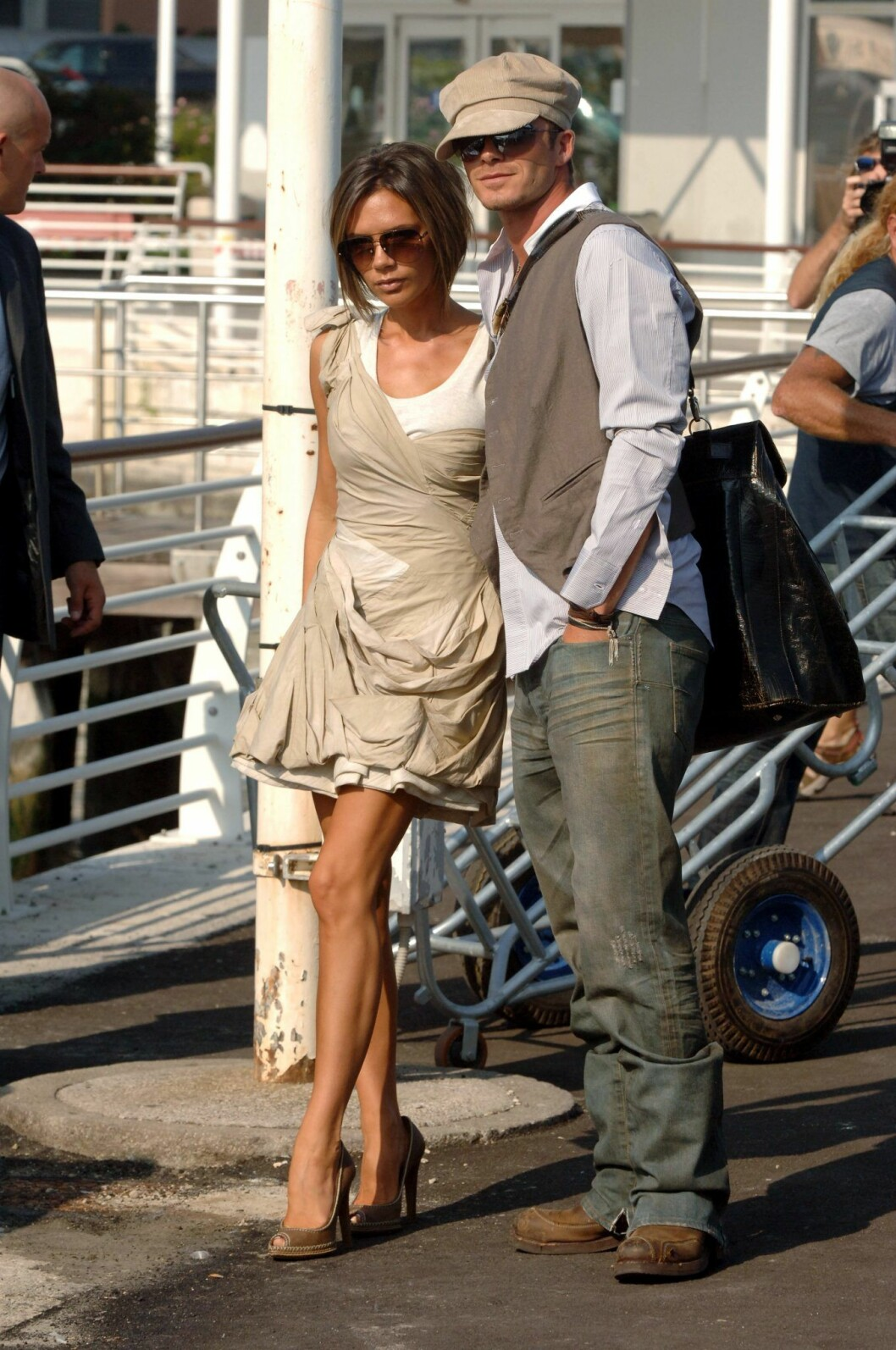 Victoria Beckham & David Beckhams stil i italien 2006