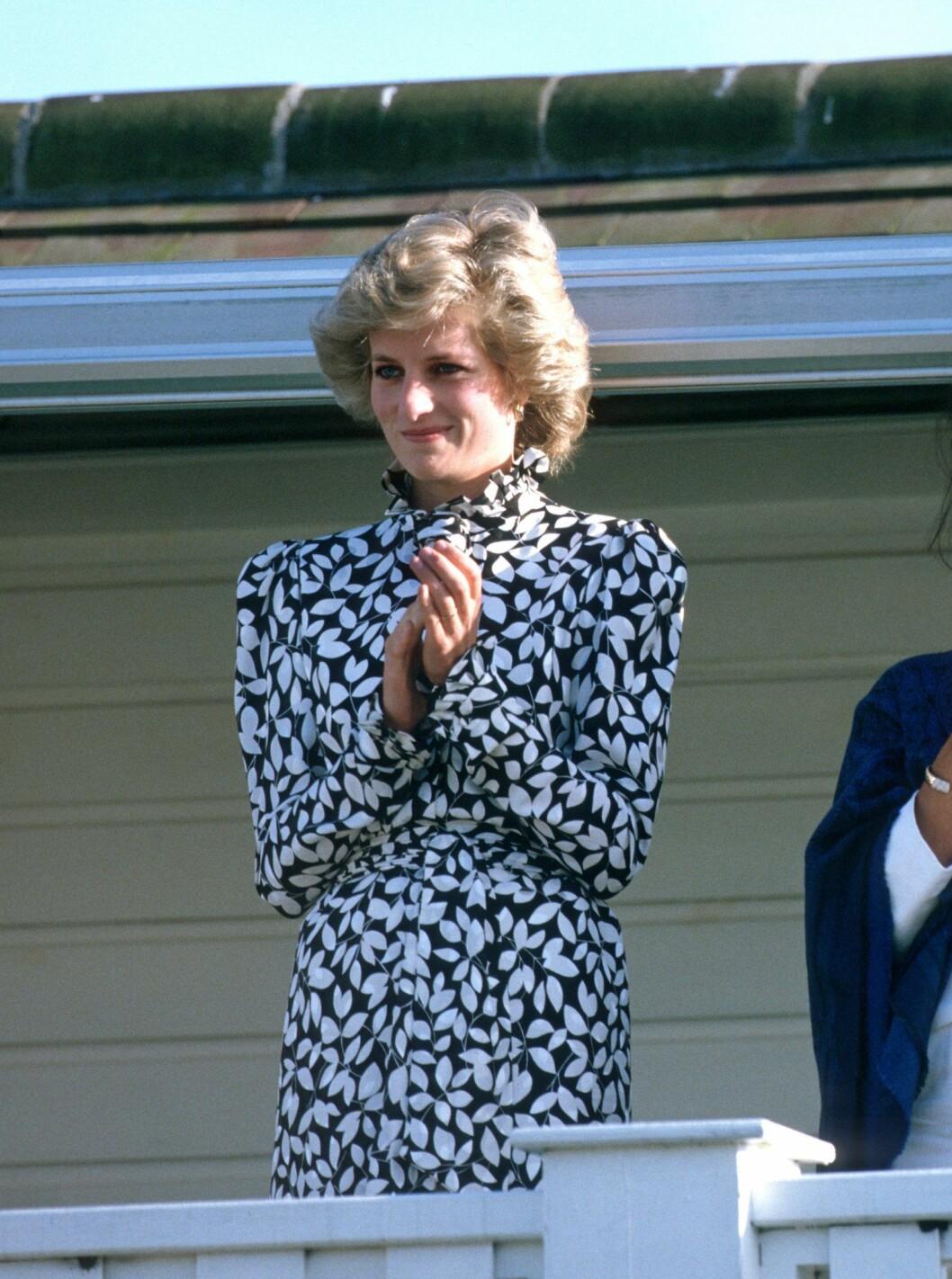 Prinsessan Diana i stilfull klänning