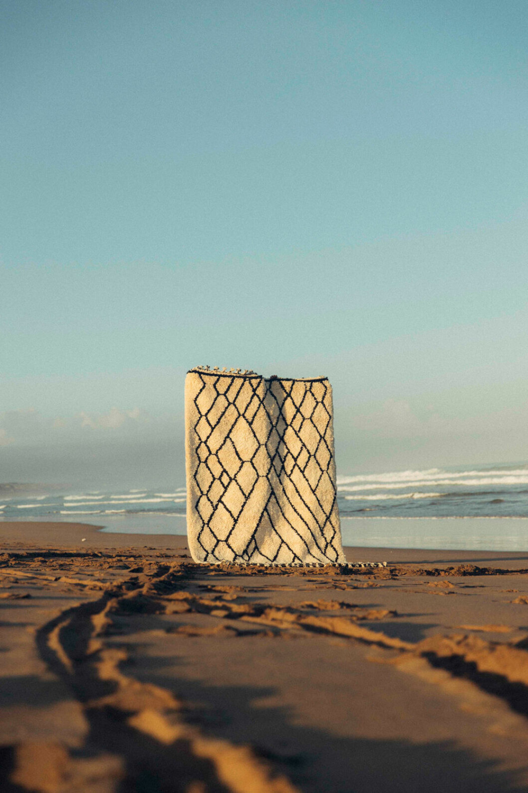 ny matta marockansk strand hav sebou