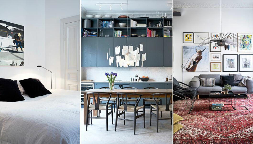 Så har familjen familjen Holmvik Persdotter inrett lägenheten på Kungsholmen.