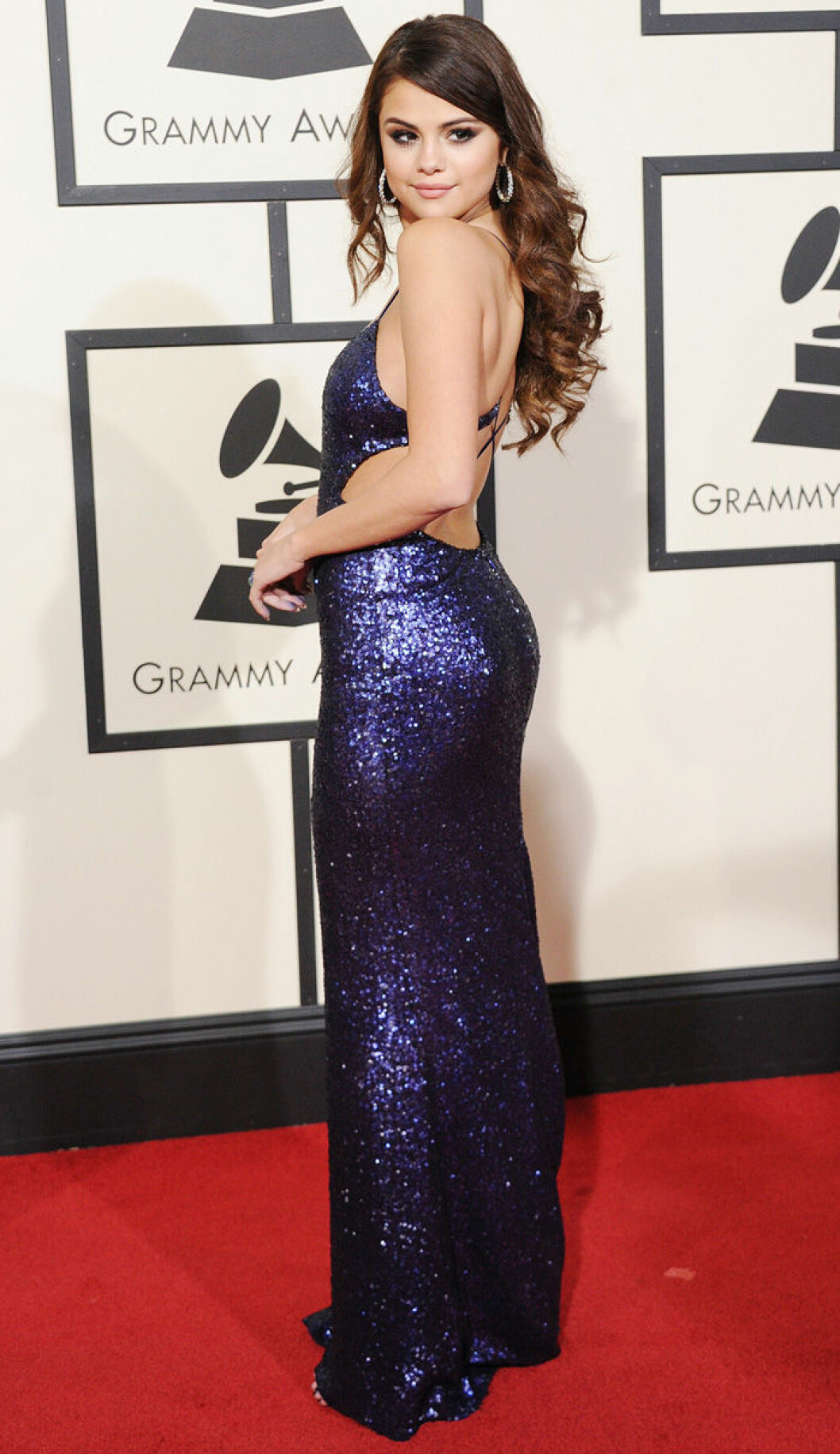 En bild på sångerskan Selena Gomez på Grammy Awards 2016.