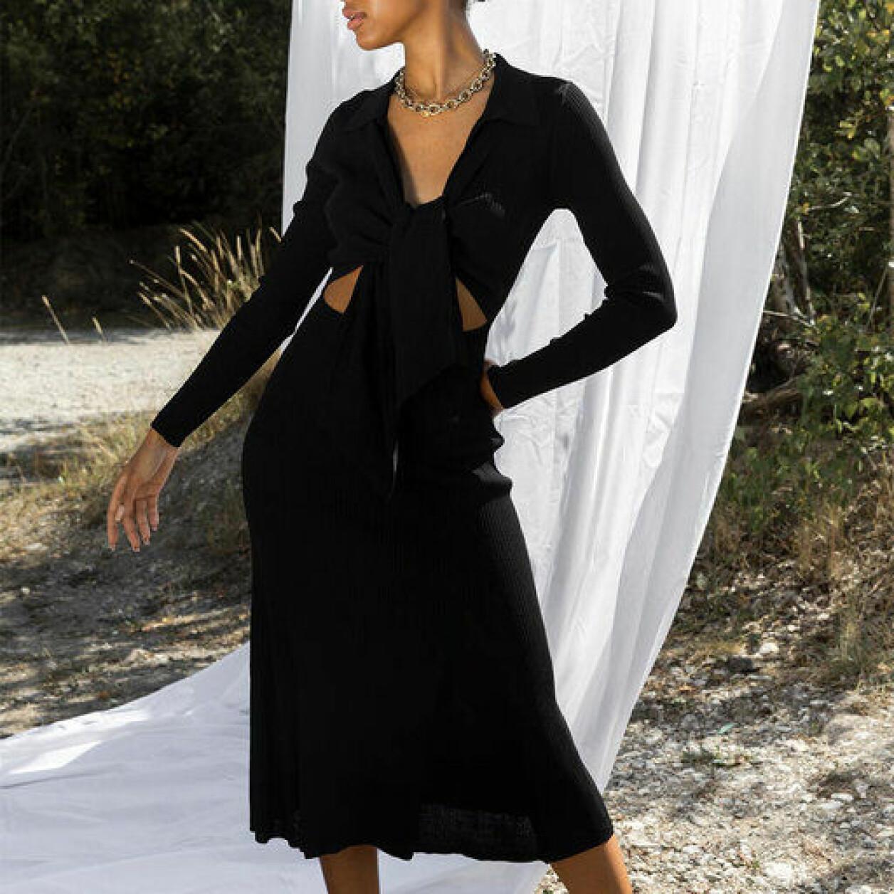 svart set kjol dam