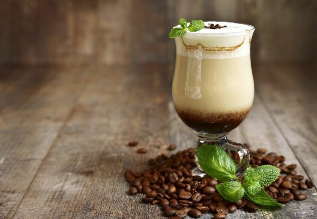 Alkoholfri kaffedrink