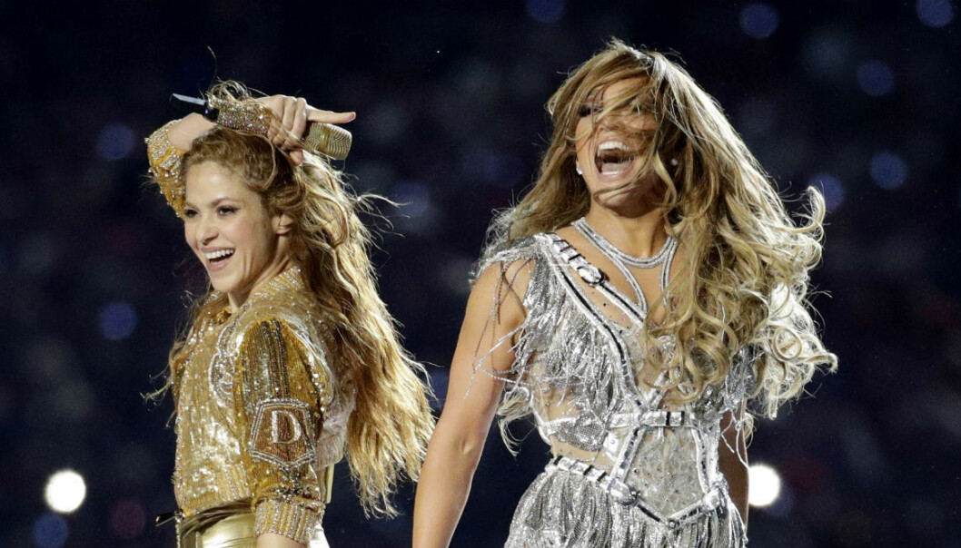 Shakira och Jennifer Lopez på Super Bowl 2020.
