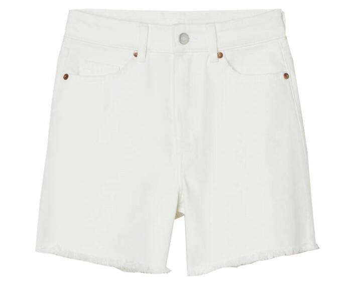 vita jeansshorts dam med hög midja