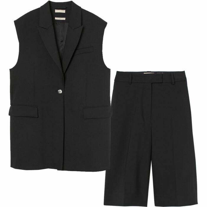 shorts och väst i ull från H&M premium