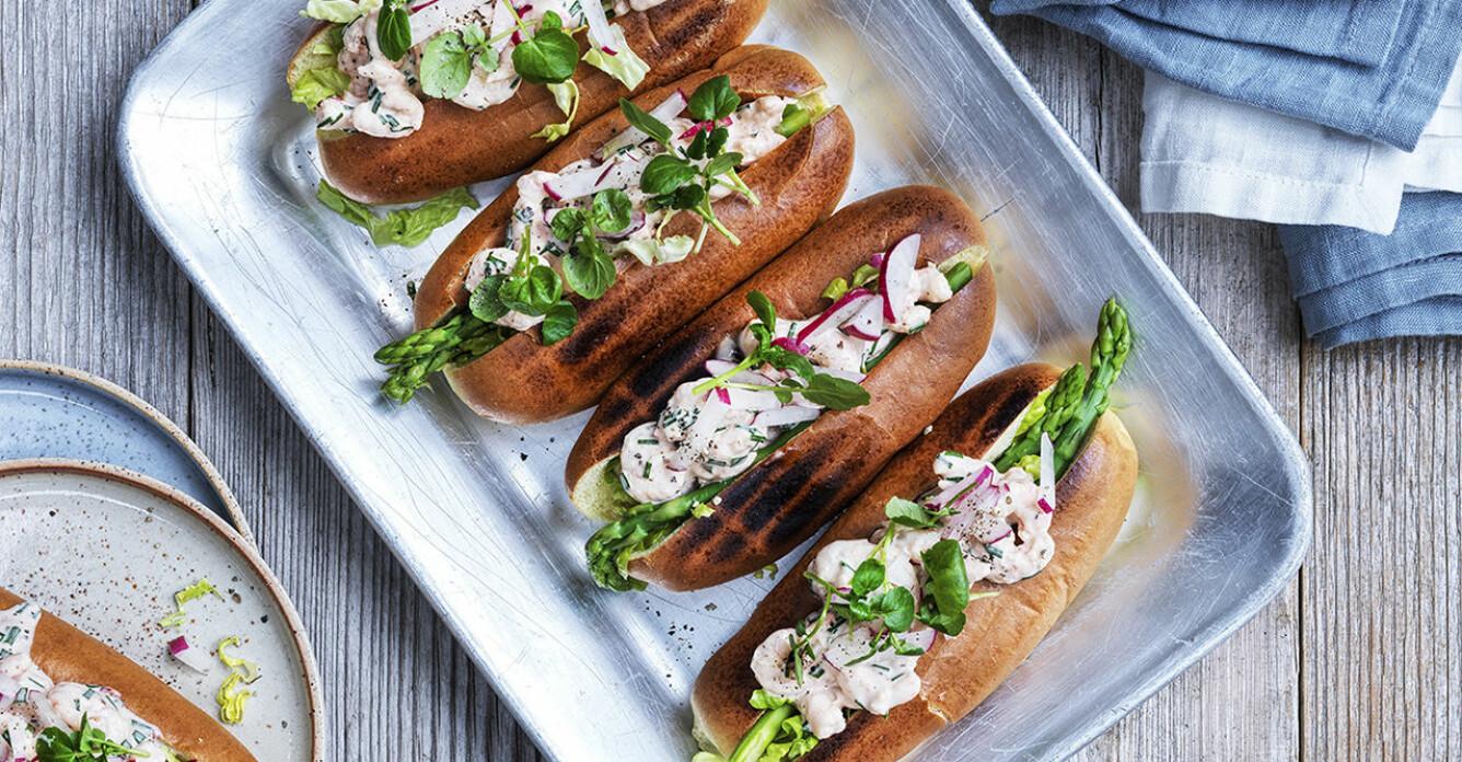 Recept på shrimp rolls i briochebröd